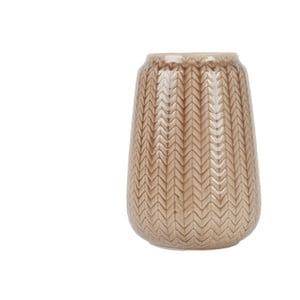 Średni brązowy wazon Present Time Knitted