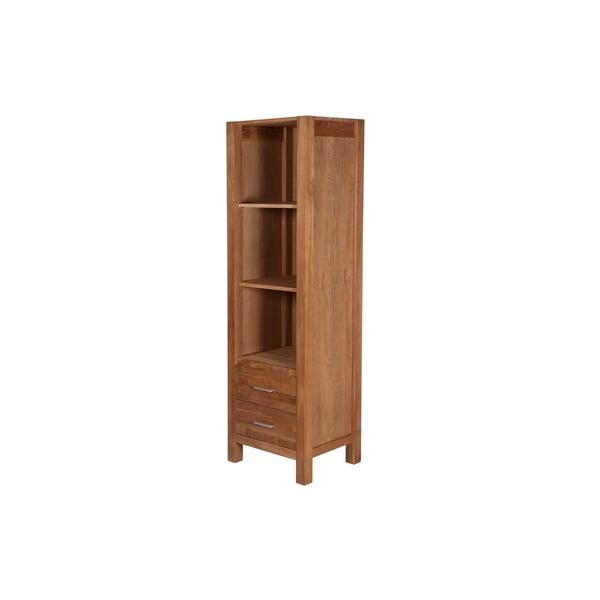 Wąska biblioteczka dębowa SIT, 190 cm