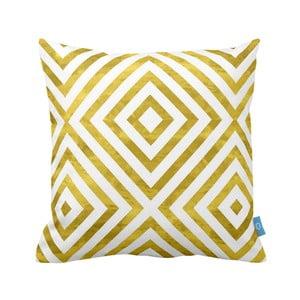 Żółto-biała poszewka na poduszkę Moderna III, 40x40 cm
