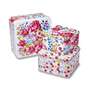 Zestaw 3 pudełek Cooksmart England Floral Romance