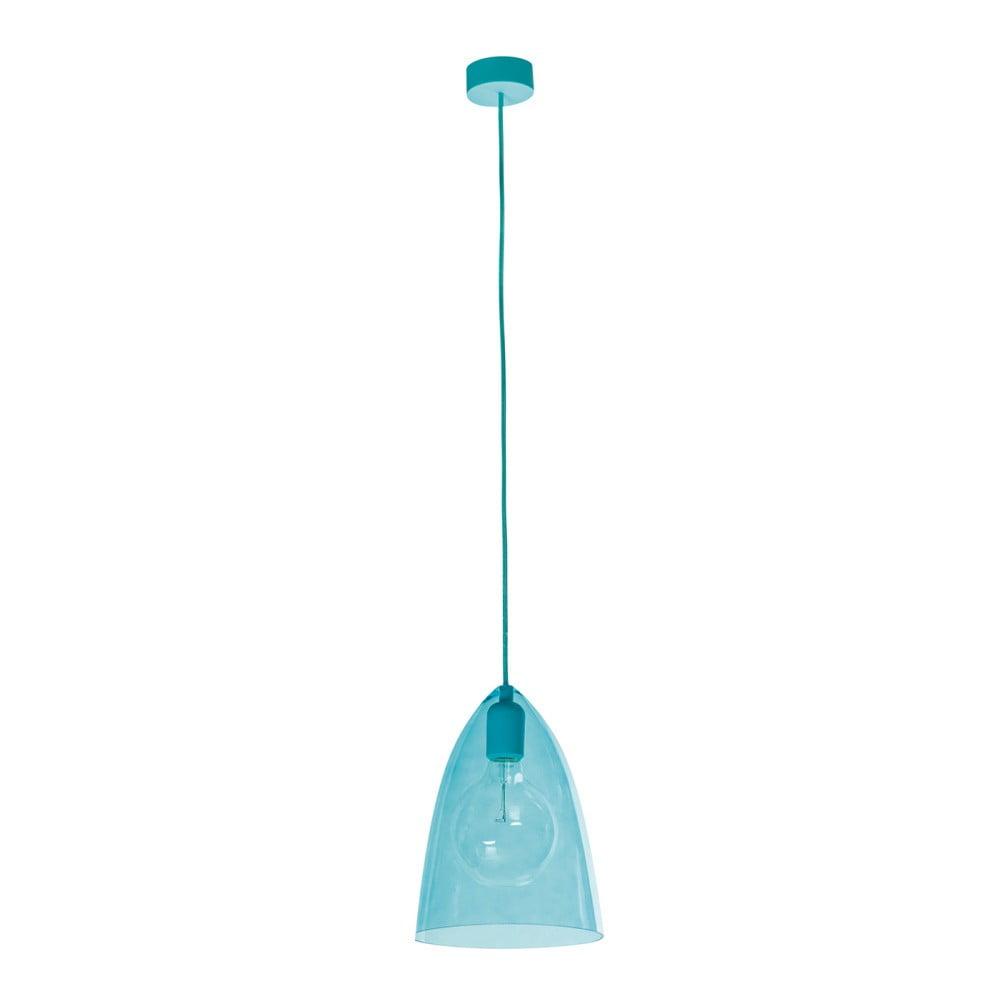 Niebieska lampa wisząca SULION Glassy