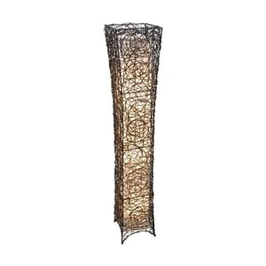 Brązowa lampa stojąca Naeve Korbstehleuchte