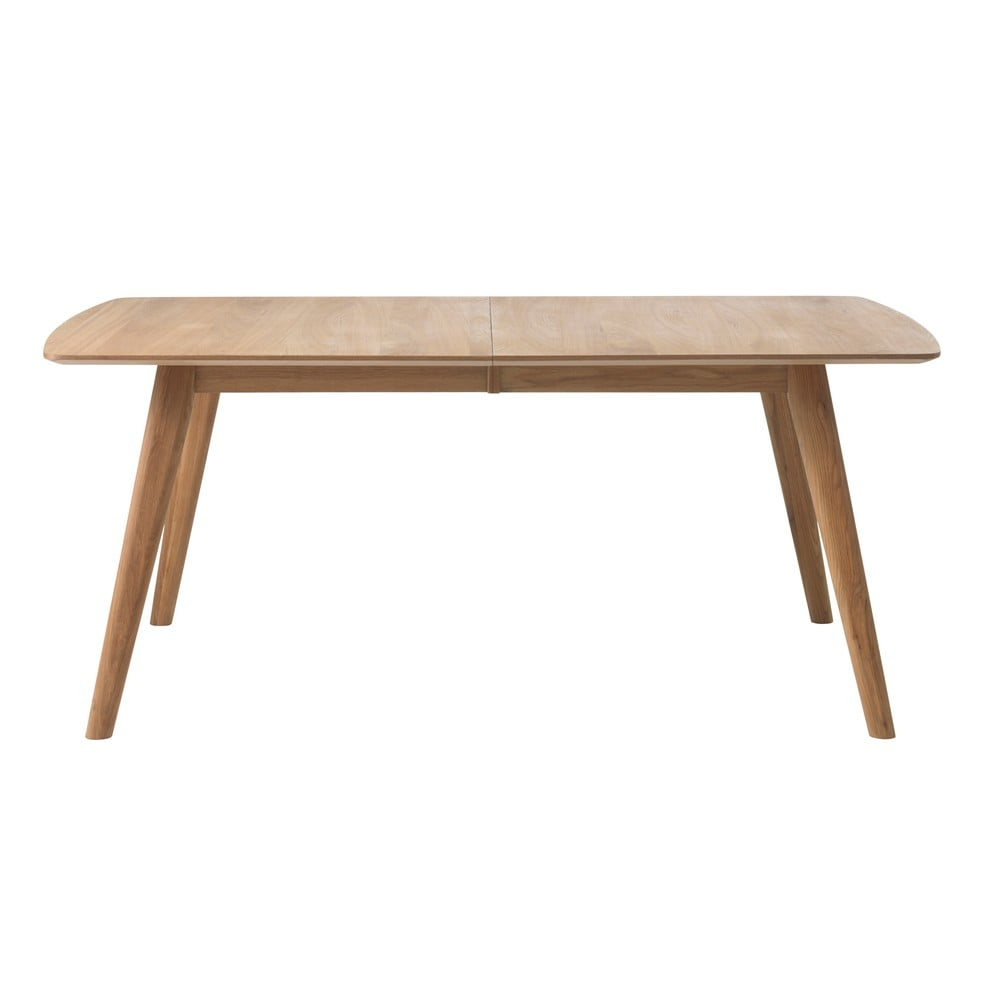 Stół rozkładany z litego drewna dębowego Unique Furniture Rho, 150x90cm