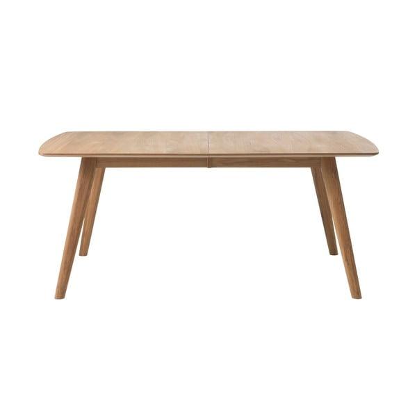 Stół rozkładany z litego drewna dębowego Unique Furniture Rho, 100x180/270 cm