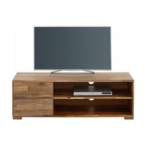 Szafka pod TV z drzwiczkami z naturalnego drewna akacjowego Støraa Surf