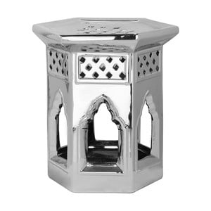 Stołek Moroccan Silver