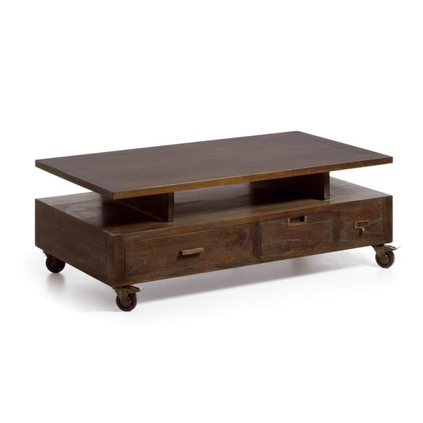 Stolik na kółkach z drewna mindi Moycor Industrial