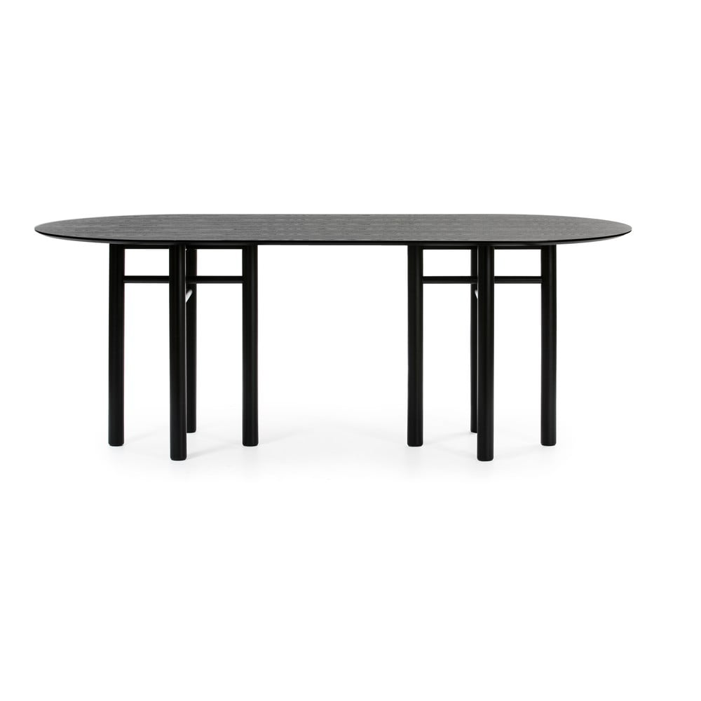 Czarny owalny stół Teulat Junco, dł. 200 cm
