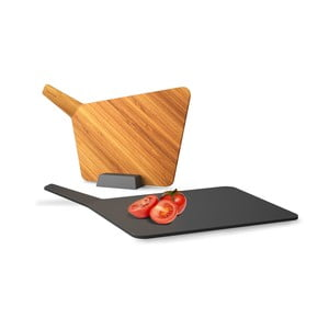 Komplet 2 desek do krojenia ze stojakiem Chopping Board Set, szary