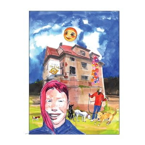 "Plakat autorki Toy Box ""Aja, Milada i Nikita"", 60x80 cm"