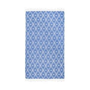 Niebieski ręcznik hammam Kate Louise Calypso, 165x100 cm