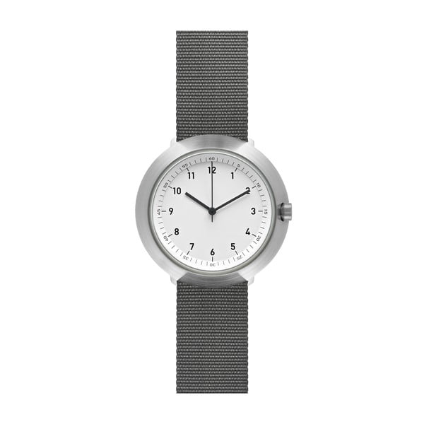 Zegarek White Fuji Grey Nylon, 43 mm