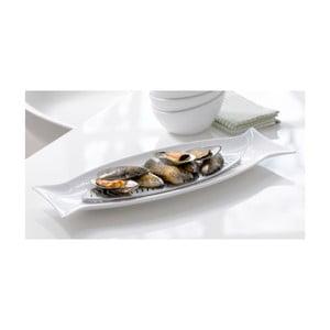 Talerz porcelanowy do serwowania ryb Steel Function Capri