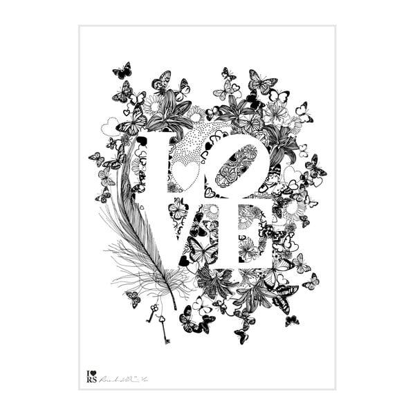 Plakat Love, 30x40 cm, edycja specjalna