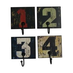 Zestaw 4 haczyków 4 Numbers
