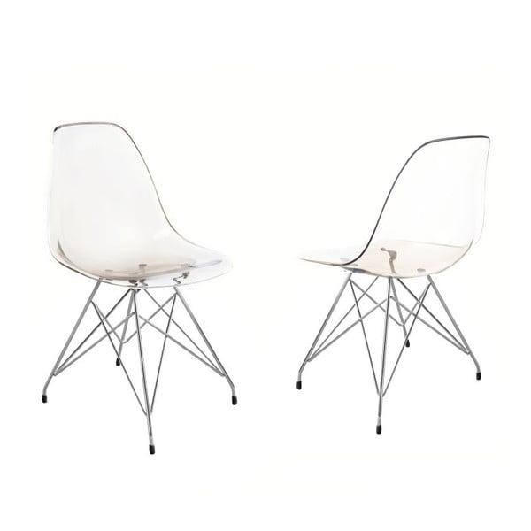 Przezroczyste krzesło v kouřovém provedení Canett Crystal