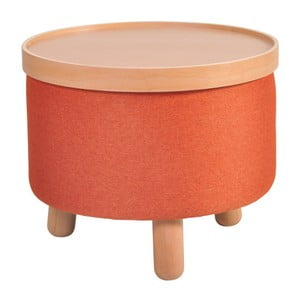Pomarańczowy stołek zdejmowanym blatem Garageeight Molde, ⌀50cm