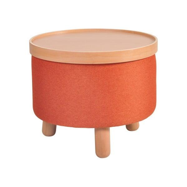 Pomarańczowy stołek ze zdejmowanym blatem Garageeight Molde, ⌀ 50 cm