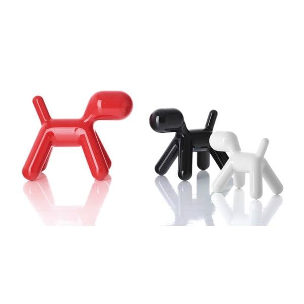 Krzesło Puppy czerwone błyszczące, 43 cm
