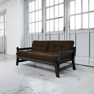 Sofa rozkładana Karup Step Black/Choco Brown