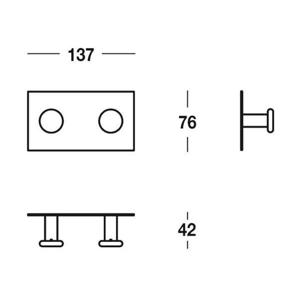 Uchwyt Chromo Cloths, 13,7x7,6x4 cm