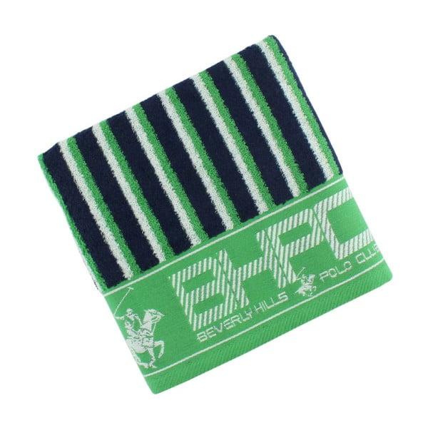 Ręcznik bawełniany BHPC 50x100 cm, zielono-niebieski