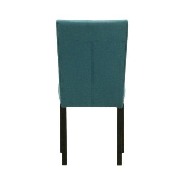 Komplet 2 krzeseł z czarnymi nóżkami Monako Etna Blue