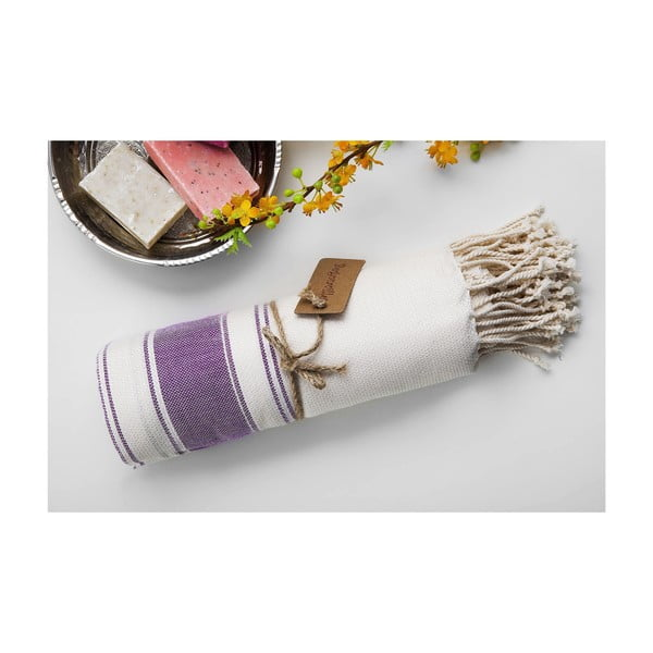 Ręcznik hamam Bambu Loincloth Plum, 100x180 cm