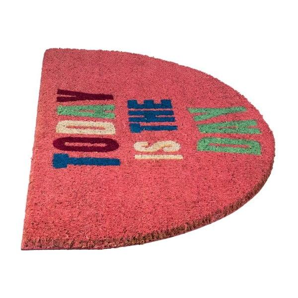 Wycieraczka z włókien kokosowych Today Pink, 40x70 cm