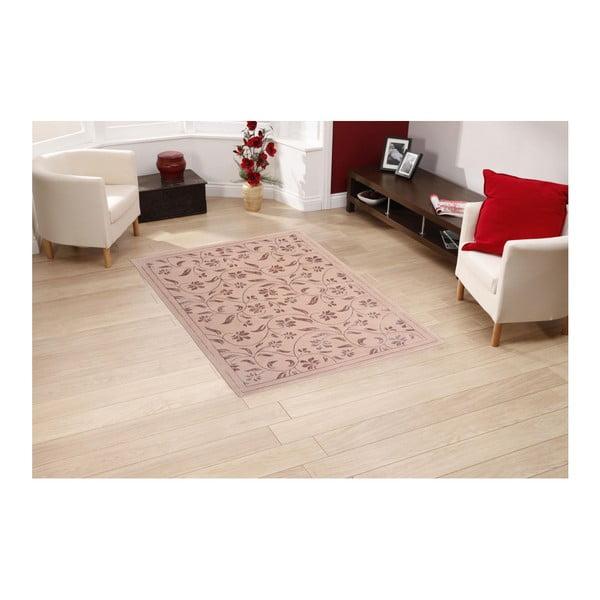 Różowy dywan Floorist Florist, 80x300 cm