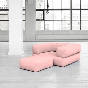 Fotel rozkładany Karup Cube Pink Peonie