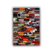 Dywan skórzany Stripes, 140x200 cm