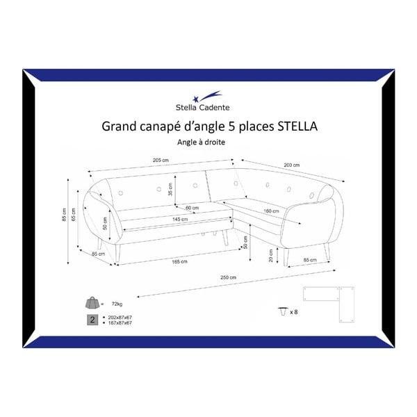 Narożnik prawostronny Stella Grand Grey