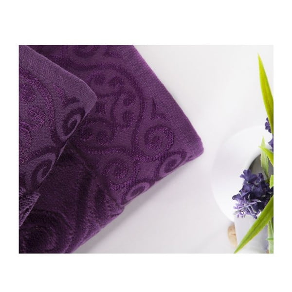 Zestaw 2 ręczników Hanzade Purple, 50x90 cm i 70x140 cm