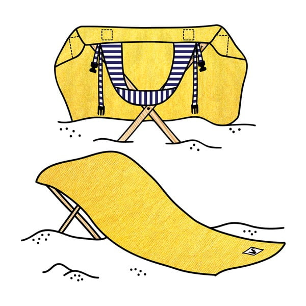 Leżak i ręcznik plażowy w jednym Sun Seat Banana