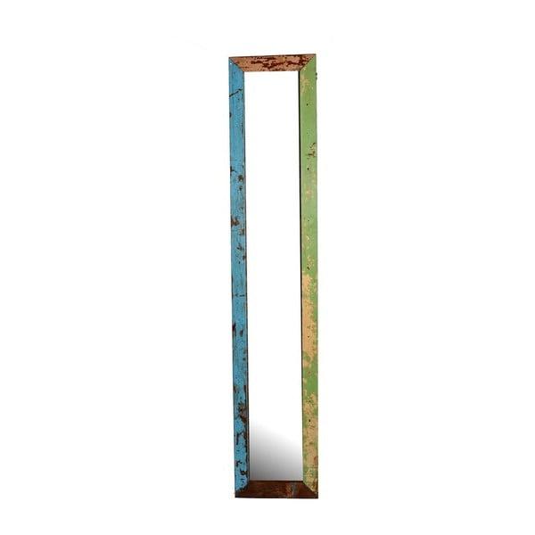 Lustro Orient 29x120 cm, kolorowa patyna