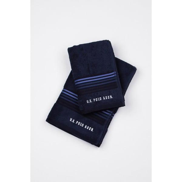 Komplet 2 ręczników U.S. Polo Assn. Dark Blue, 50x100 a 70x140 cm