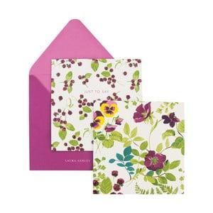 Zestaw 10 kartek okolicznościowych z kopertami Laura Ashley Parma Violets by Portico Designs