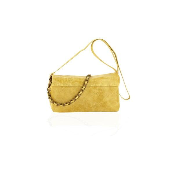 Skórzana torebka Italiana, yellow