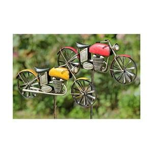Zestaw 2 dekoracji ogrodowych Motorbike, 160 cm