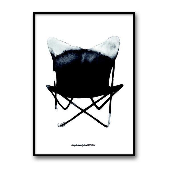 "Plakat autorski ""Chair Butterfly"", 30x40 cm"
