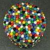Ręcznie wykonany kulkowy puf Happy Pills, okrągły