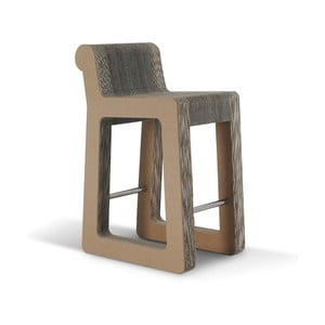 Barowe kartonowe krzesło Knob Stool Natural