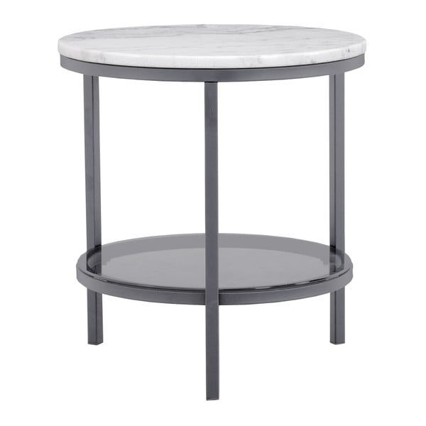 Marmurowy stolik z szarą konstrukcją RGE Ascot, ⌀50cm