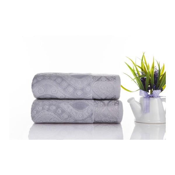 Zestaw 2 ręczników Sal Grey, 50x90 cm