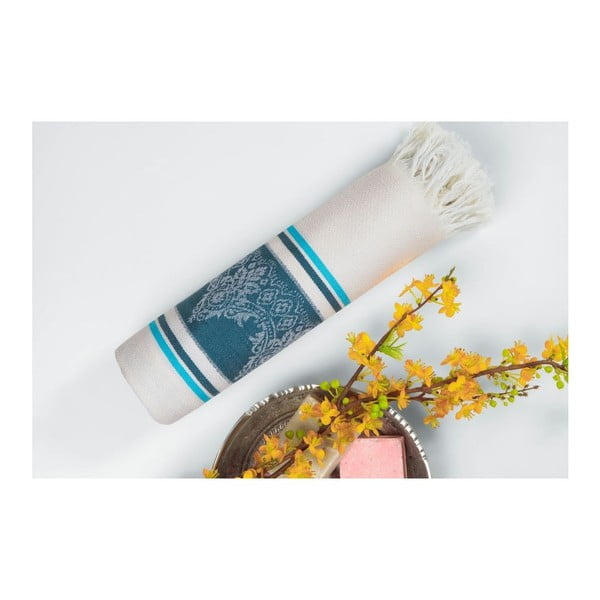 Ręcznik hammam Loincloth Dark Blue/Turquoise, 80x170 cm