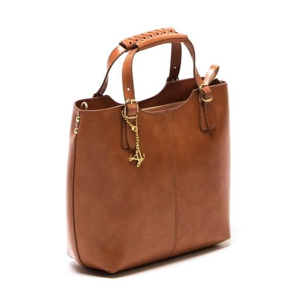 Skórzana torebka Luisa Vannini 3006 Cognac