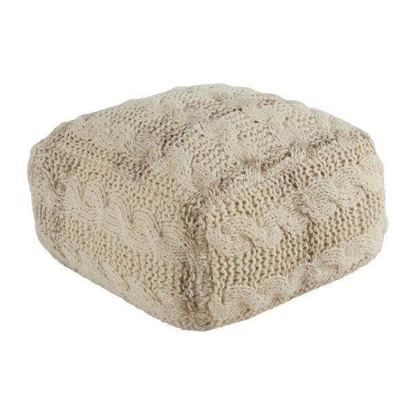 Beżowy puf Athezza Wool