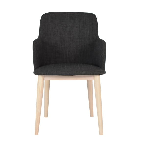 Zestaw 2 krzeseł z podłokietnikami Edgar, ciemne