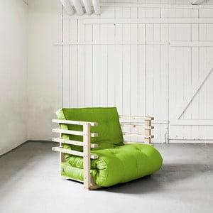 Fotel rozkładany Karup Funk Natural/Lime